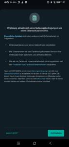 whatsapp nutzungsbedingungen ändern